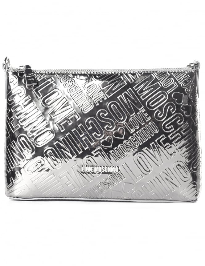 Moschino Women's Embossed Patent Cross Body Bag