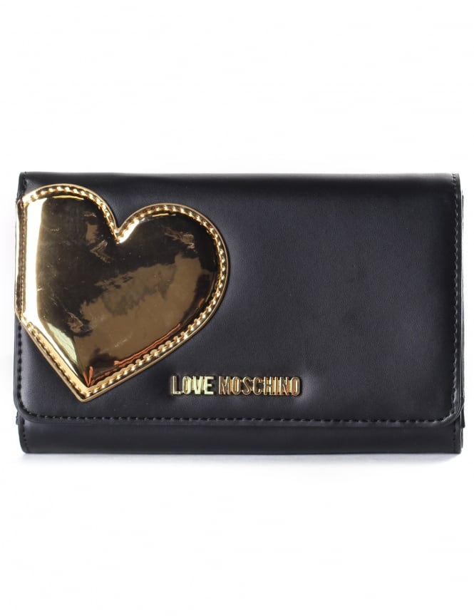 Moschino Women's Mirror Heart Fold Over Purse