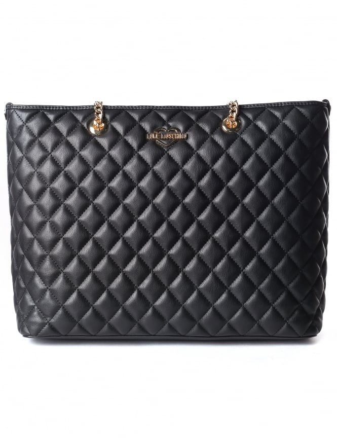 Moschino Women's Quilted Shopper Bag