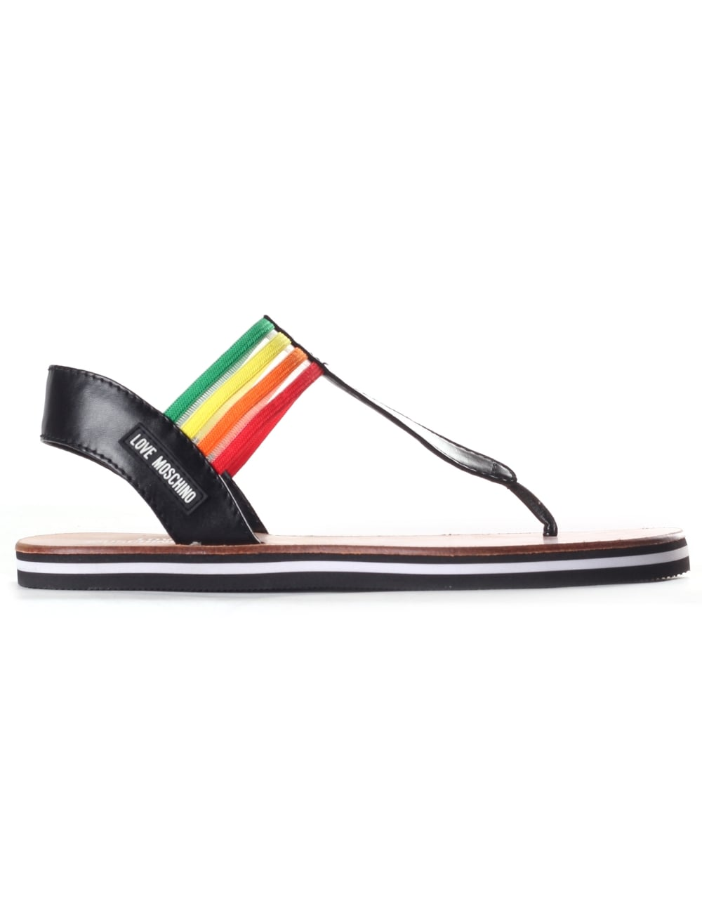 2f7fc4eb63dc Love Moschino Women s Rainbow Sandals
