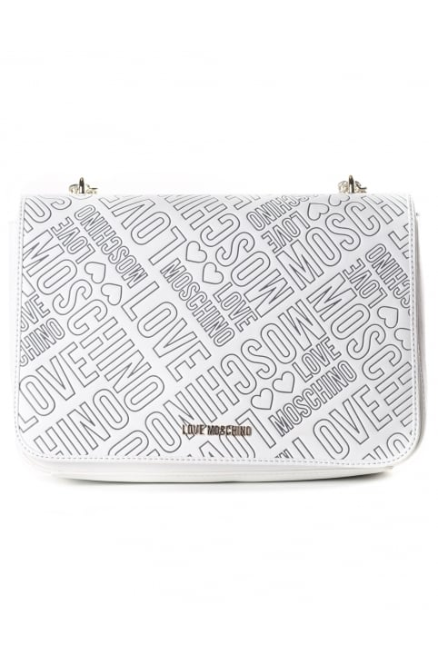 Women's Stitch Foldover Bag White