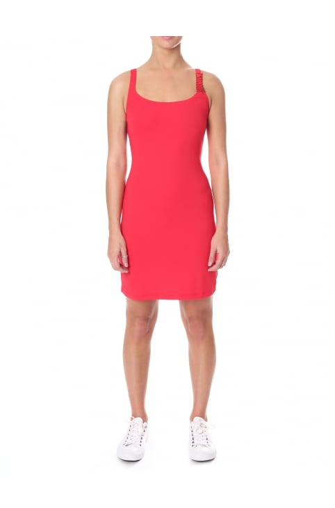 Women's Strap Logo Fitted Dress
