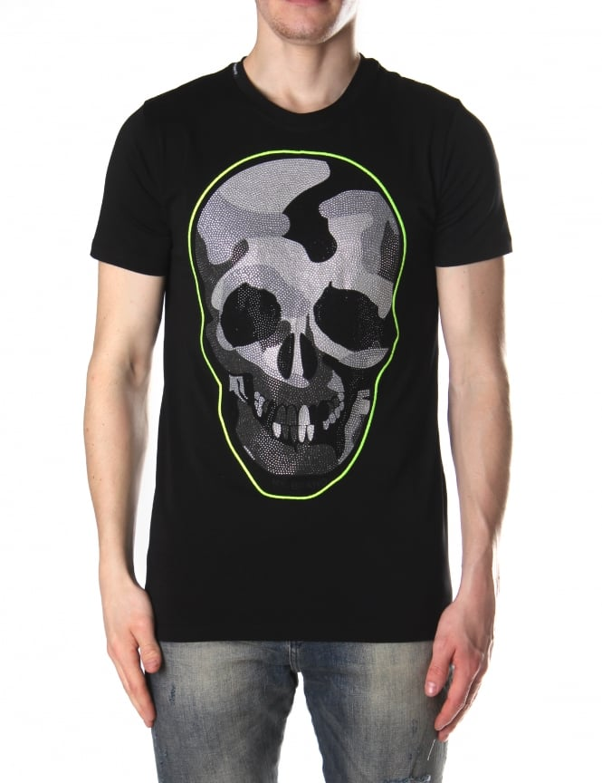 My Brand Men's Grey Camo Skull Tee