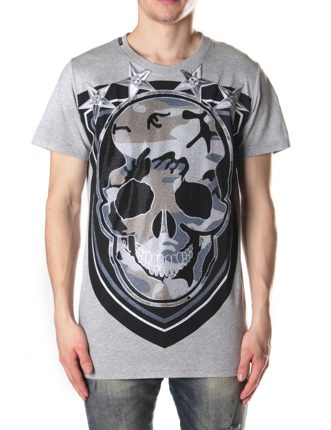 My Brand Men's Shield Skull Tee