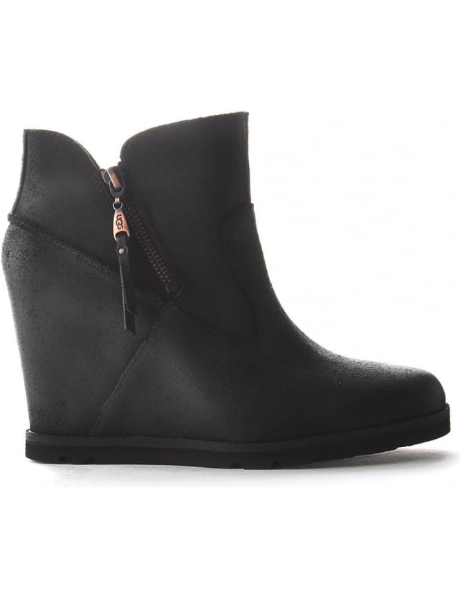 57bf5aa64b9 UGG Myrna Women's Wedge Boot Black