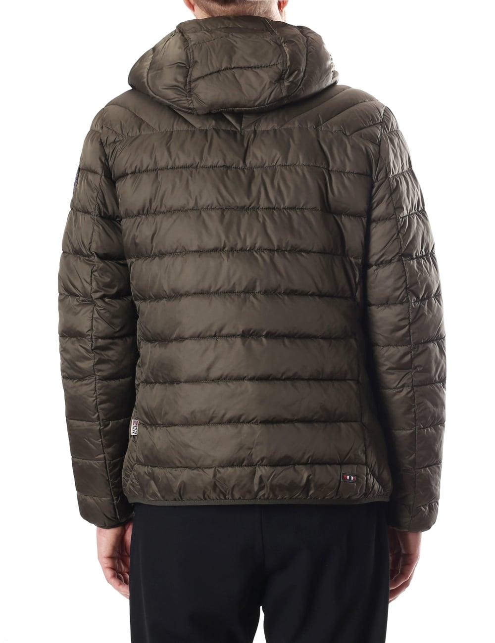 Napapijri Aerons Men's Quilted Hooded Jacket : mens quilted hooded jacket - Adamdwight.com