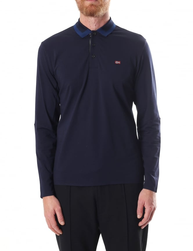 Napapijri Elim Men's Long Sleeve Polo Top