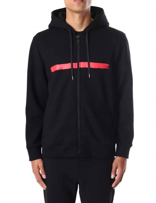 Neil Barrett Brush Stroke Men's Hooded Sweat Top