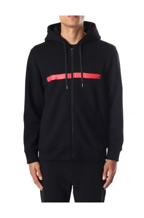 Brush Stroke Men's Hooded Sweat Top