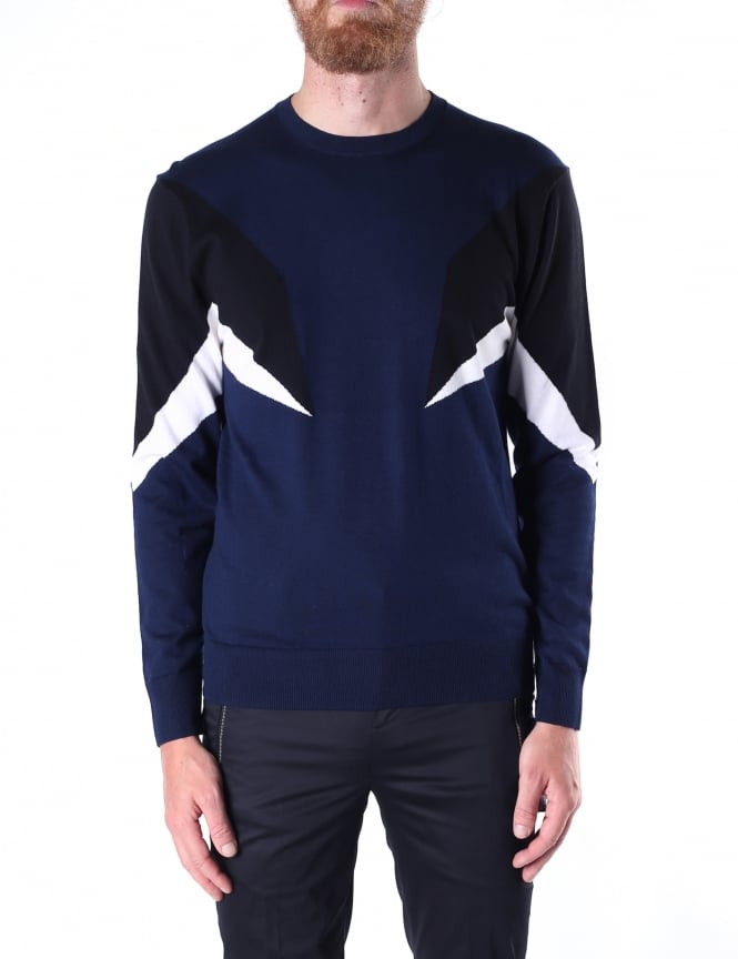 Neil Barrett Modernist Men's Cotton Knit Jumper