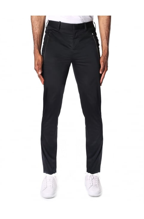 Zip Pocket Men's Trouser Black