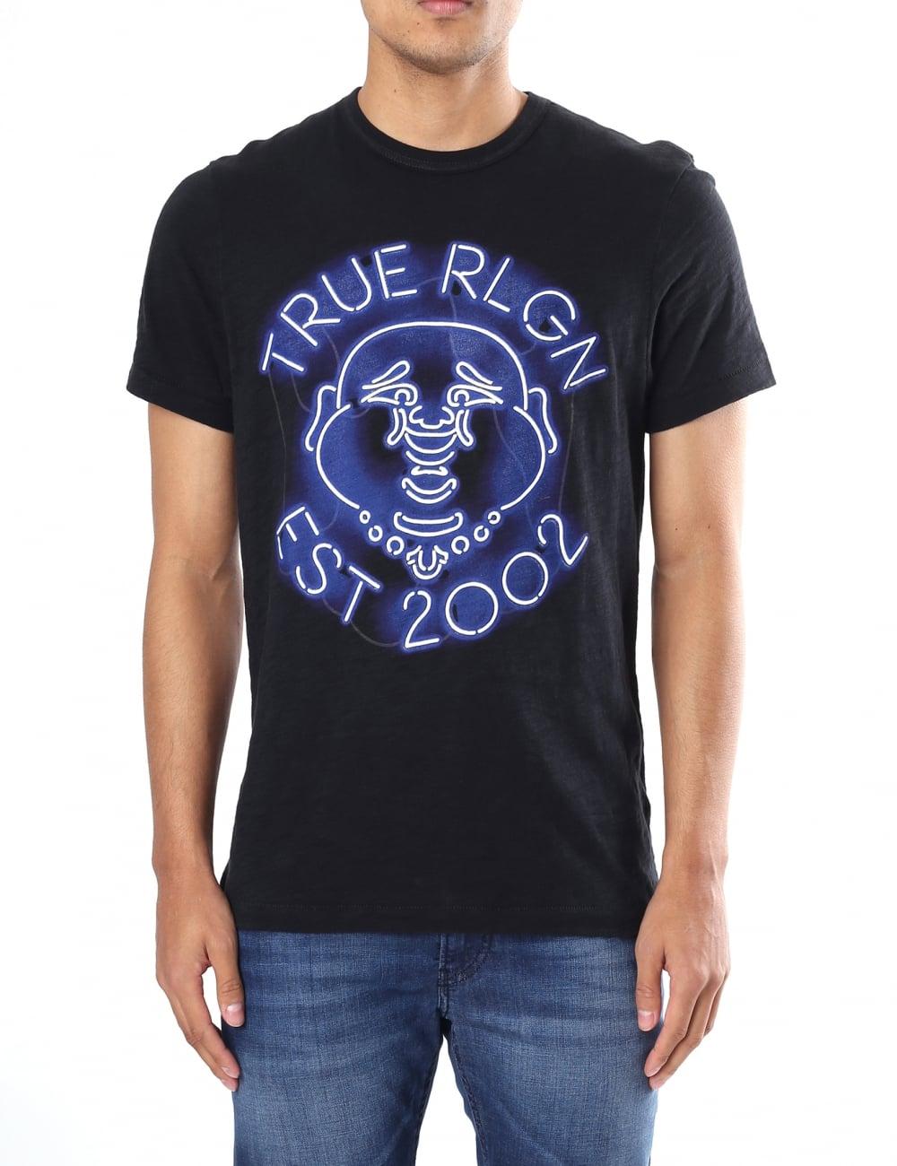 1b08f4528 True Religion Neon Buddha Men's Graphic Tee