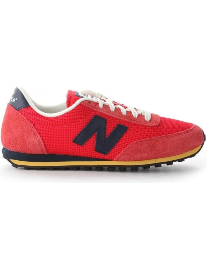 f052130ac5238 New Balance 410 Men's Suede Lace Up Trainer Red