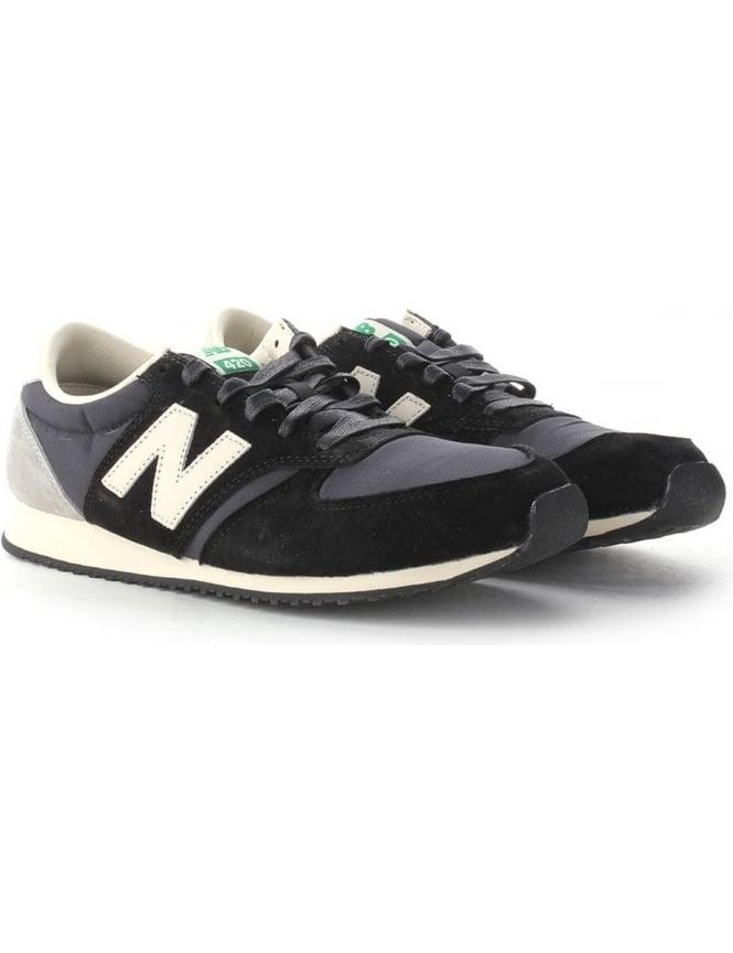 New Balance 420 Men's Suede Lace Up Trainer Black