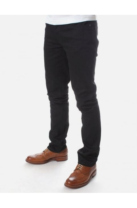 Grim Tim Org Ring wash Jean Black