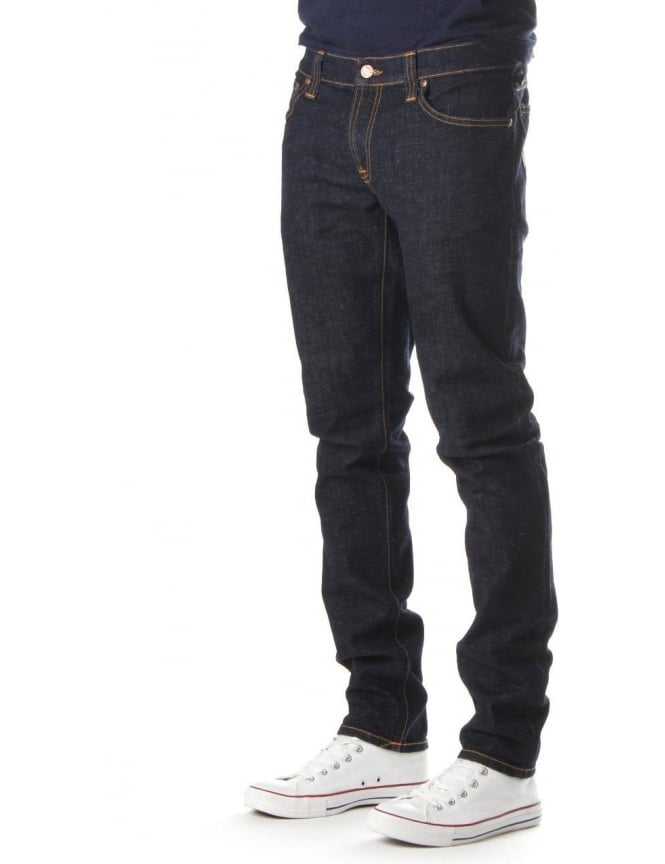 Nudie Jeans Tight Long John Men's Twill Rinsed Jean Indigo