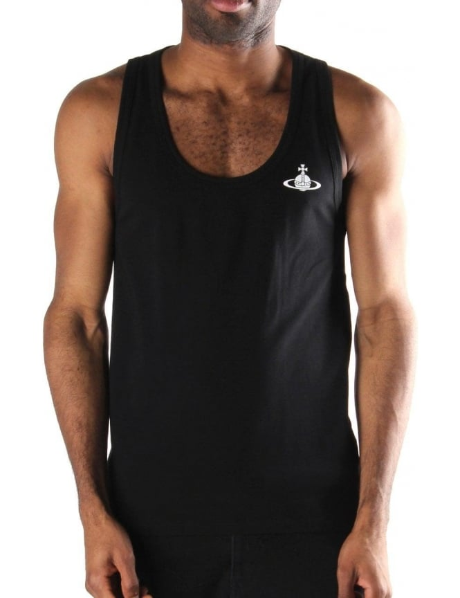 cd700041cf2 Vivienne Westwood Orb Logo Men's Vest Top Black