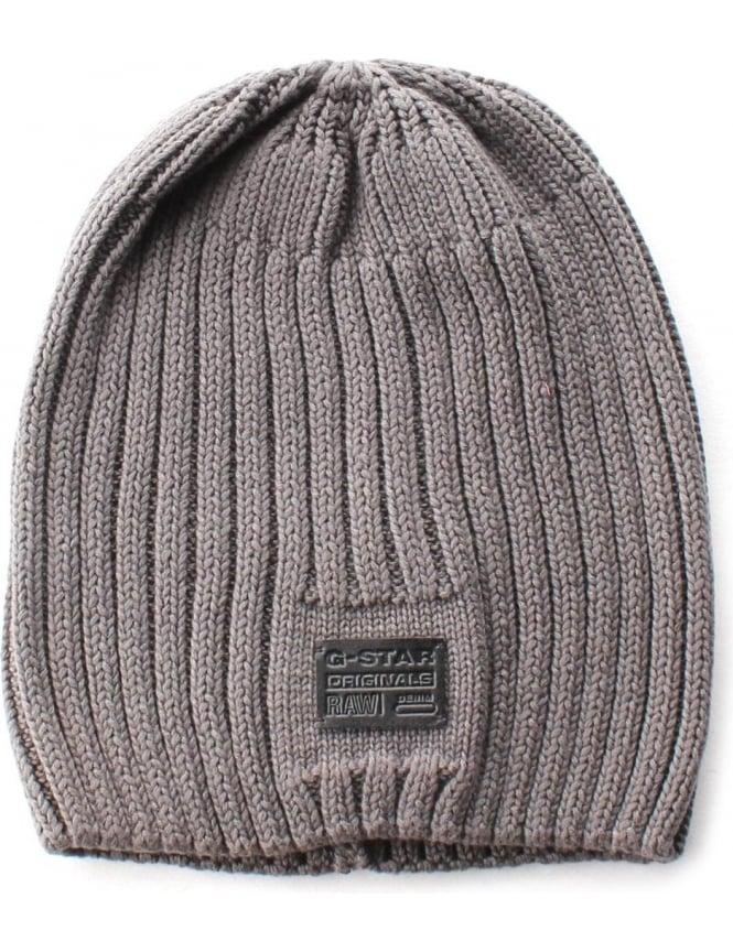 a3bb2d1cb G-Star Raw Originals Cotton Knit Men's Beanie Grey