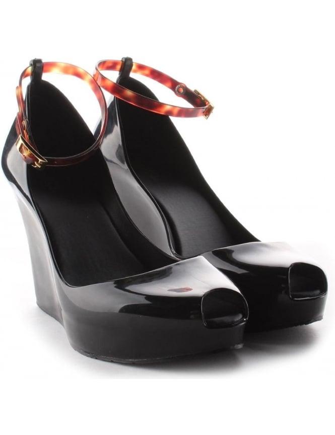 5e13a42c40 Melissa Patchuli 14 Women's Ankle Strap Wedge Shoe black