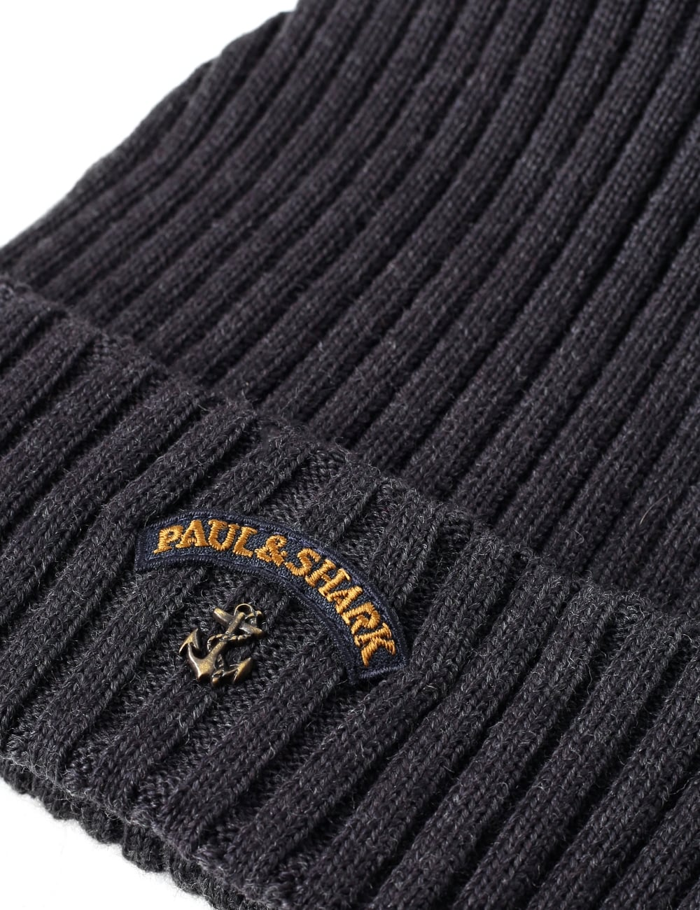 2ff2cf73be050 Paul   Shark Men s Ribbed Knitted Beanie