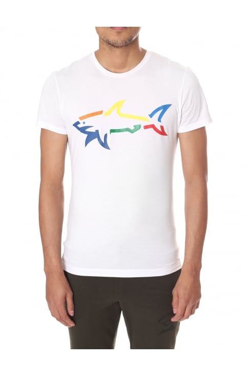 Rainbow Shark Men's Short Sleeve Tee