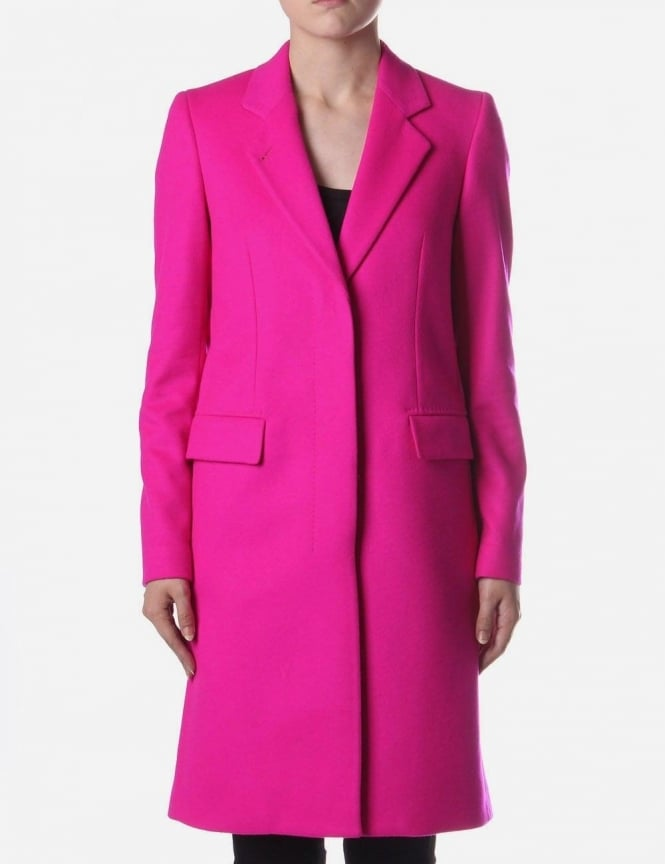 paul smith 2 button wool women 39 s coat bright pink. Black Bedroom Furniture Sets. Home Design Ideas