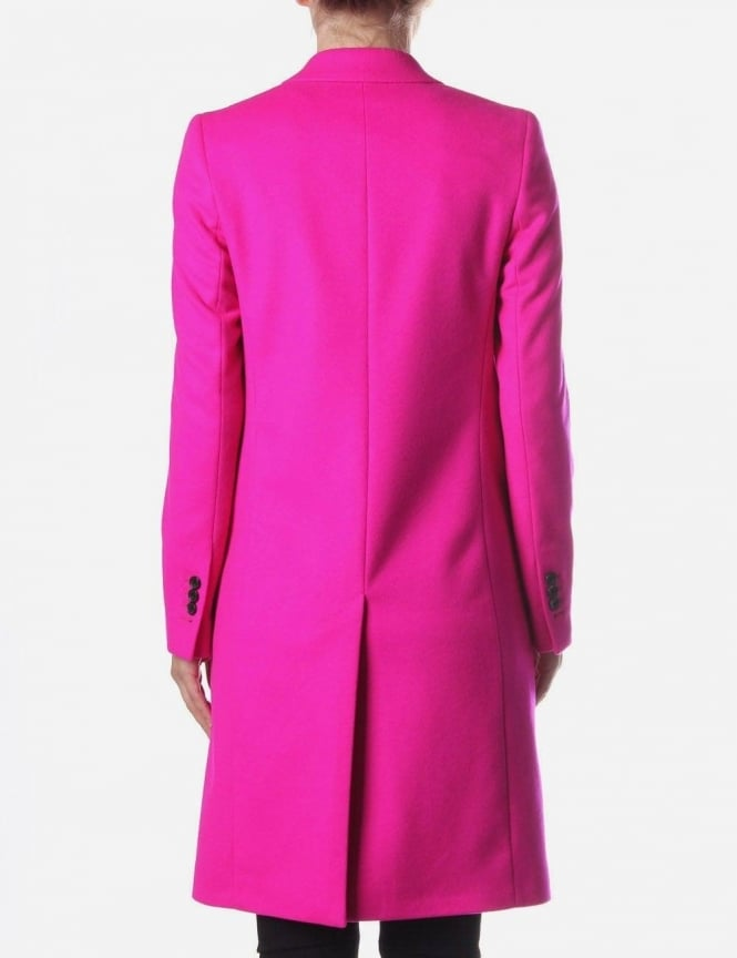 Paul Smith 2 Button Wool Women's Coat Bright Pink
