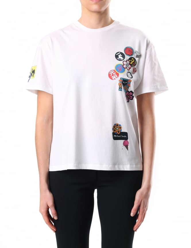 Paul Smith Badge Print Women's Short Sleeve Tee