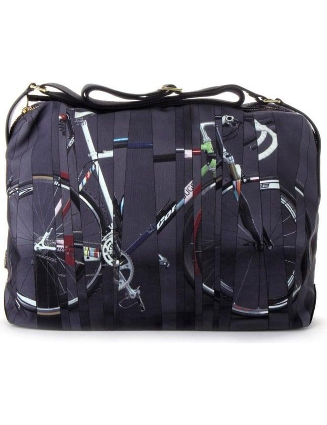 Paul Smith Bikes Print Men's Flight Bag Grey