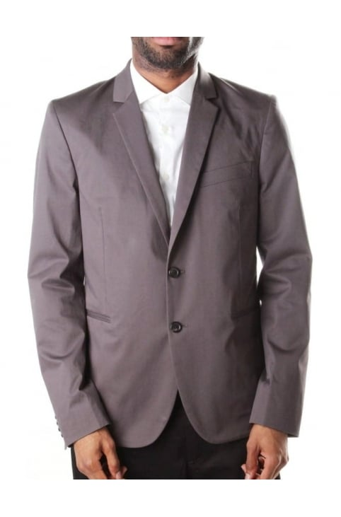 Buggy Lined Men's Blazer Jacket Charcoal