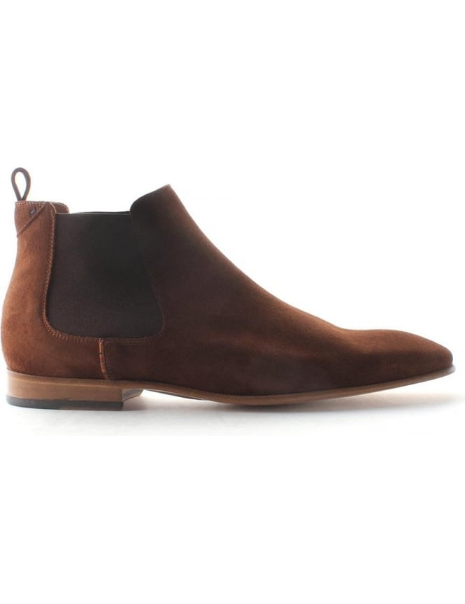 5b3ddfe937a8a Paul Smith Falconer Men's Suede Chelsea Boots Brown