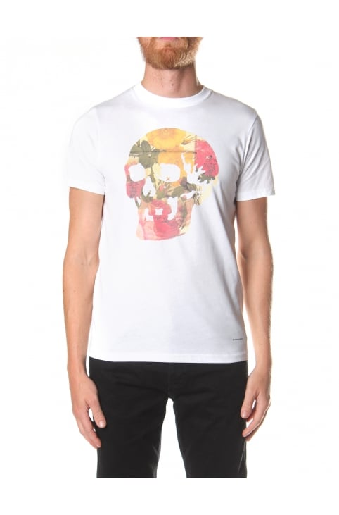Floral Skull Men's Slim Fit Tee