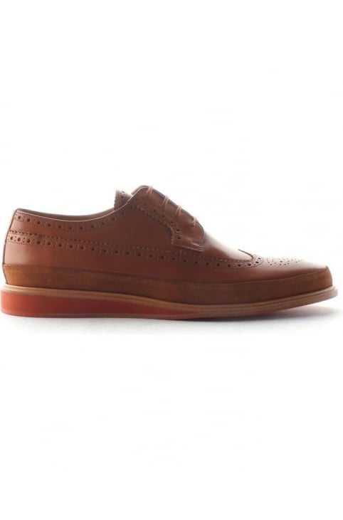 Gordan Men's Suede Longwing Brogue Tan