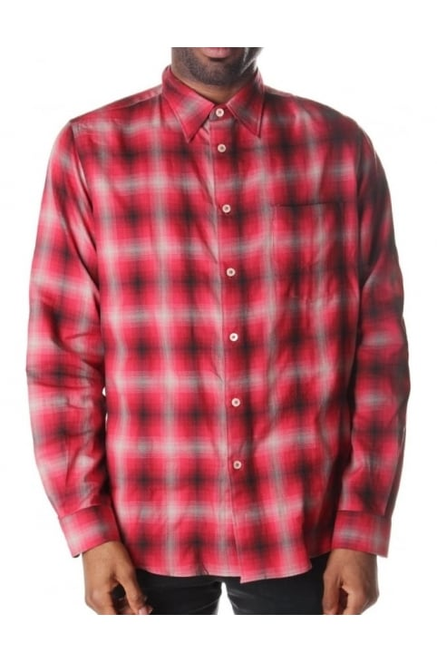 Long Sleeve Casual Shirt Red