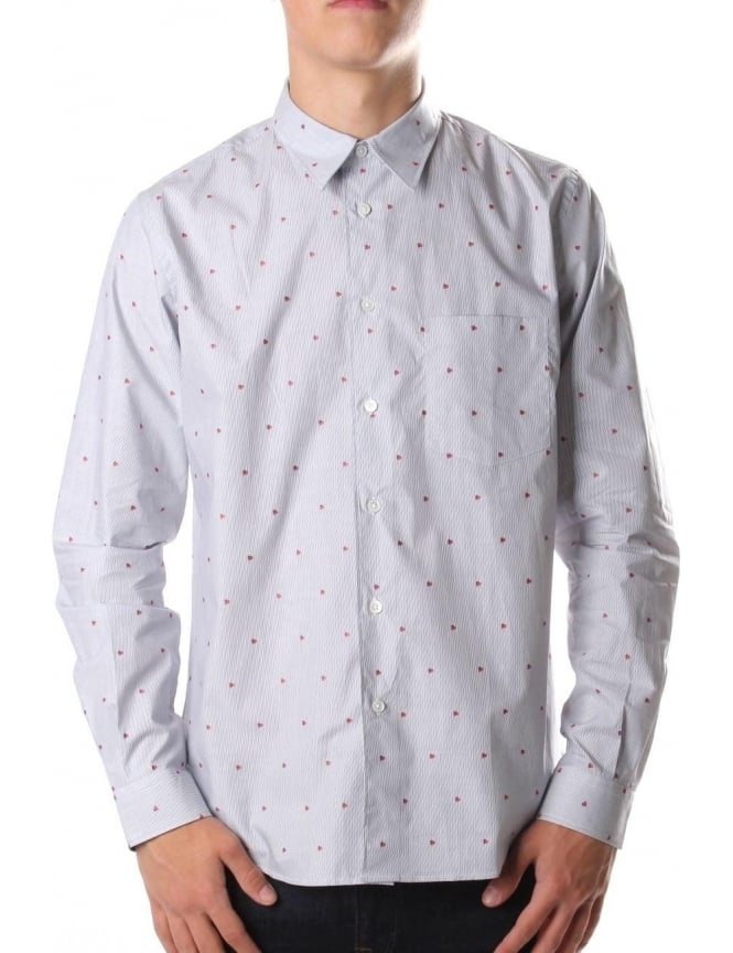 Paul Smith Long Sleeve Men's Casual Shirt Blue/White