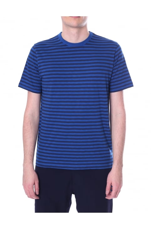 Men's Breton Stripe Crew Neck Short Sleeve