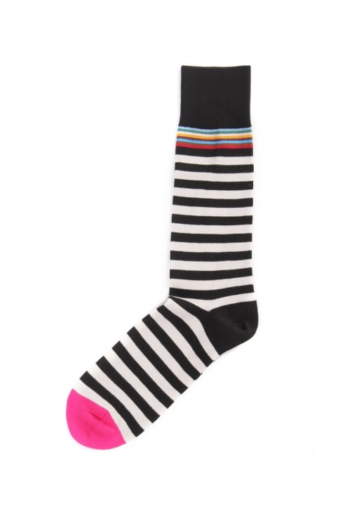 Men's Multi Stripe Trim Socks