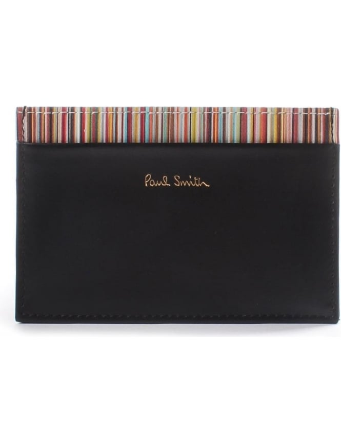 536d03b8a5f1 Paul Smith Men's Signature Stripe Trim Card Holder