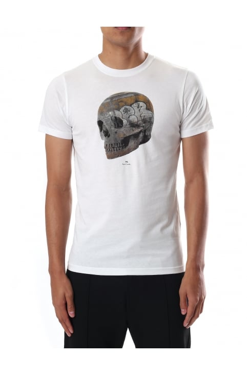Men's Skull Print Regular Fit Short Sleeve T-shirt