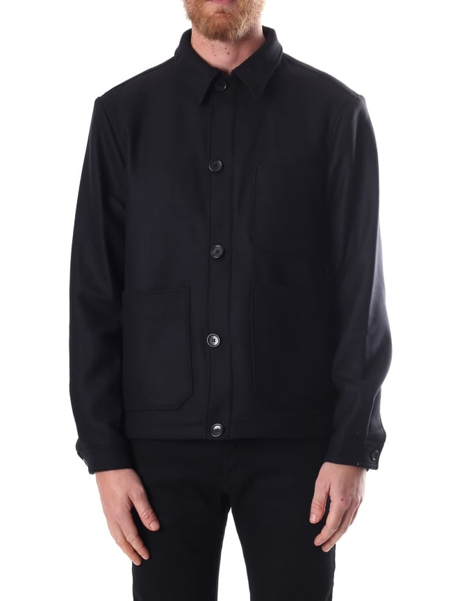 Paul Smith Men's Wool Mix Shirt Jacket