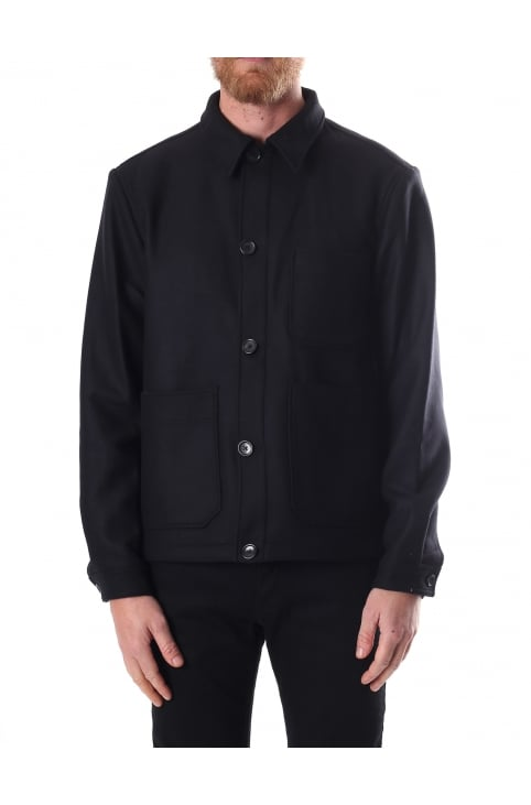 Men's Wool Mix Shirt Jacket