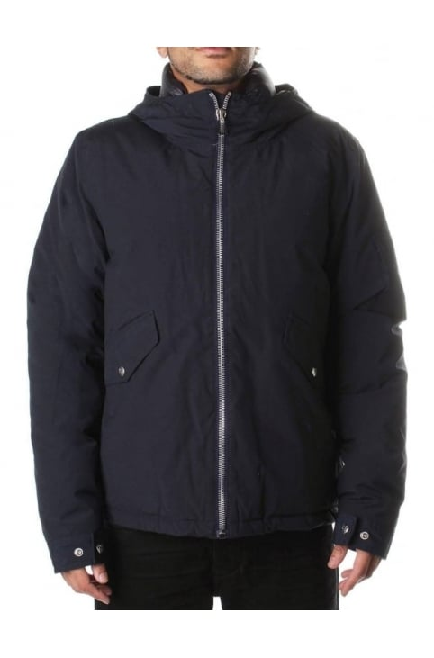 PRXD Men's Hooded Down Jacket Navy
