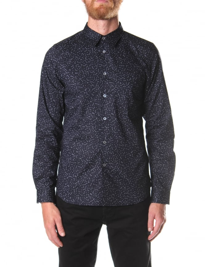 Paul Smith Tailored Fit Men's Constellation Long Sleeve Shirt