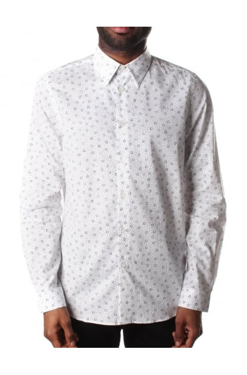 Tailored Fit Men's Printed Shirt