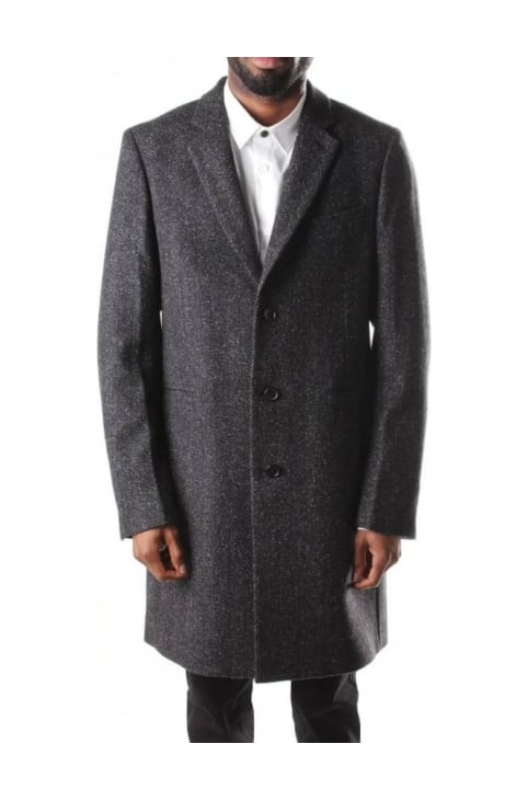 Wool Blend Men's Overcoat