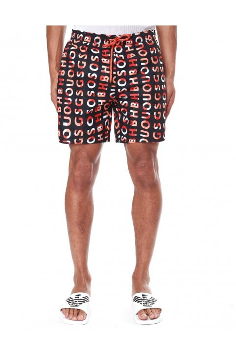 5709c8918 Piranha Logo Print Quick Dry Swim Shorts · Boss Bodywear Men's ...