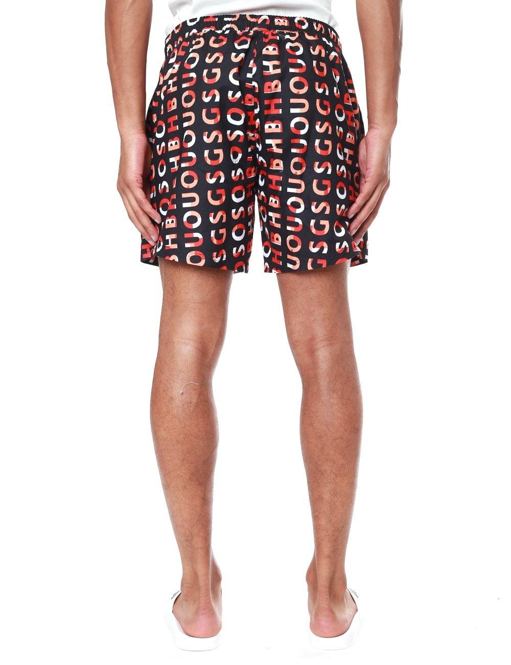 8249d63bd1 Boss Bodywear Piranha Logo Print Quick Dry Swim Shorts