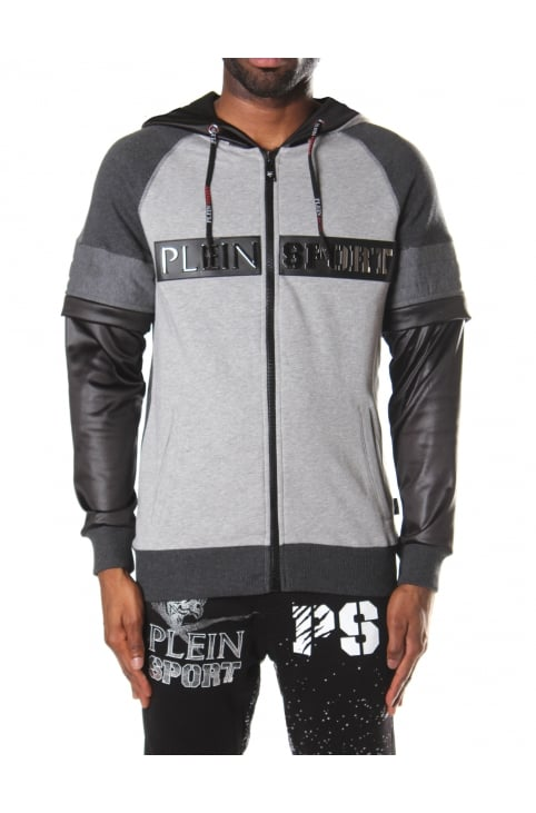 Men's Zip Through Hooded Sweat Jacket