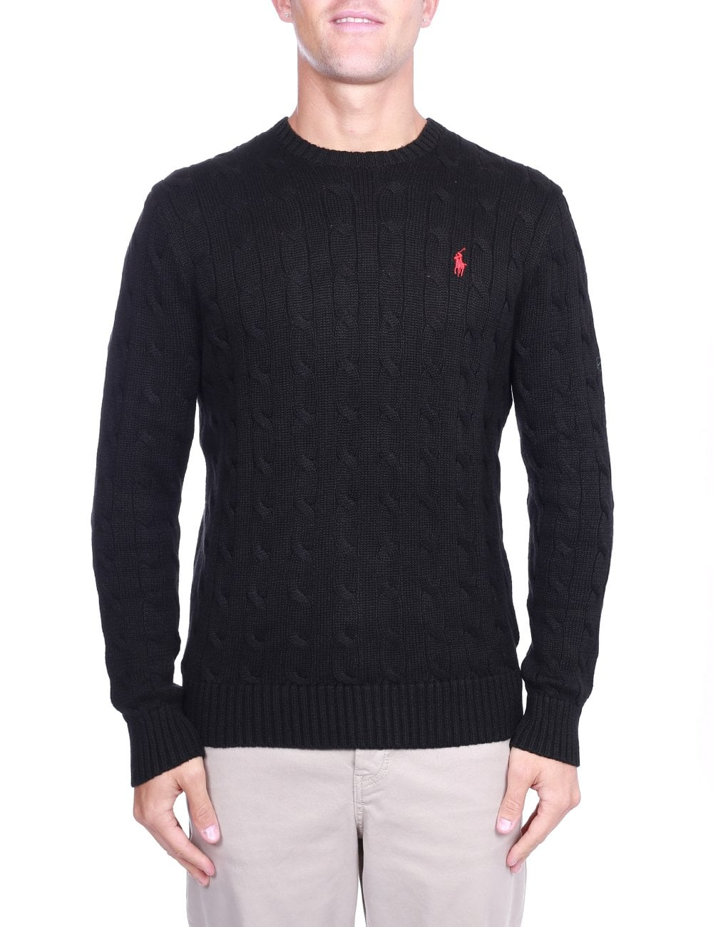 sports shoes 70af7 fdd74 Crew Neck Pullover Cable Knit
