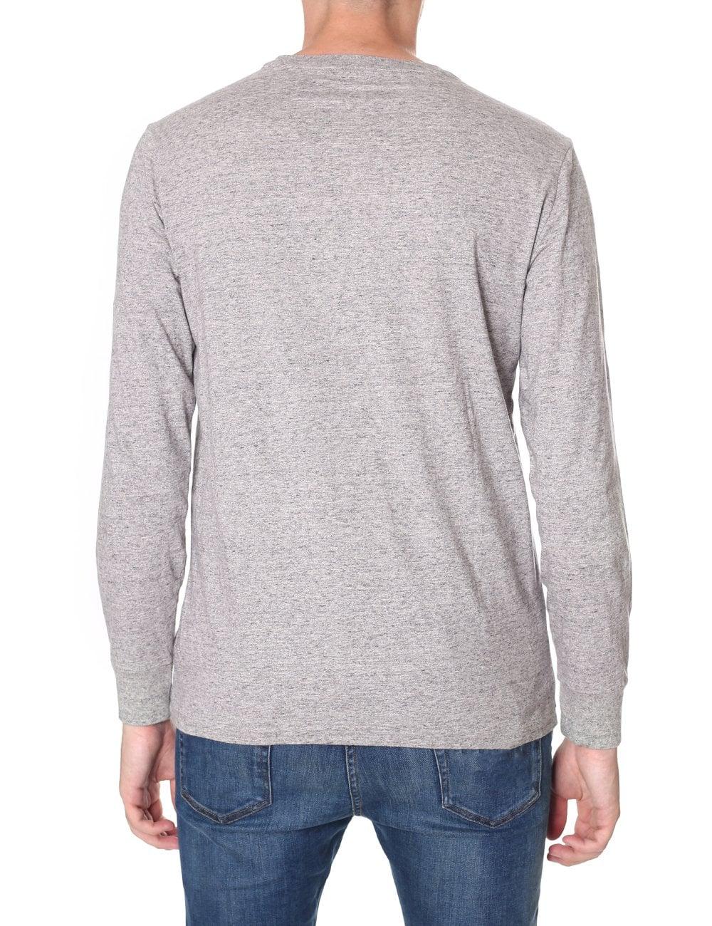 8f455726955ca Polo Ralph Lauren Custom Fit Men s Long Sleeve Tee Dark Vintage Heather